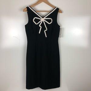 David Meister bow front sheath dress Size 6